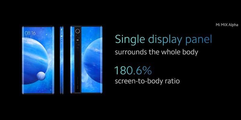 Harga Hp Xiaomi Mi Mix Alpha dan Spesifikasi Terbaru dan Terlengkap Layar