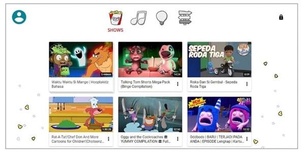 akses Youtube Kids di laptop