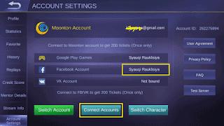 cara menghapus akun Mobile Legend