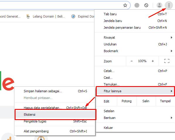 cara menghilangkan tab yang muncul sendiri di Google Chrome