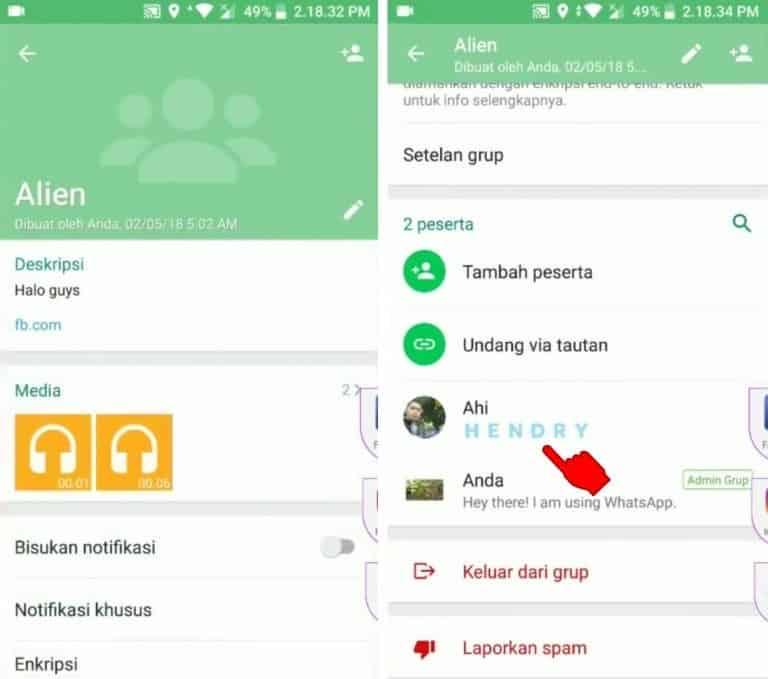 cara menjadi admin grup Whatsapp tanpa persetujuan