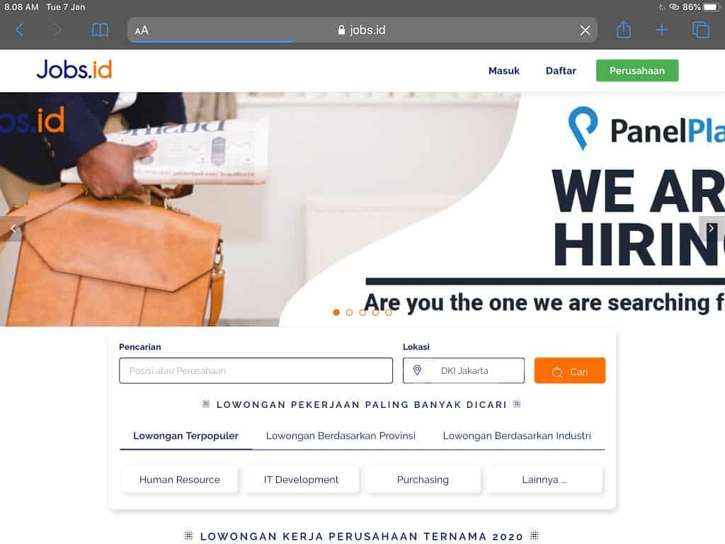 web lowongan kerja