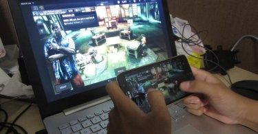 game android di layar laptop