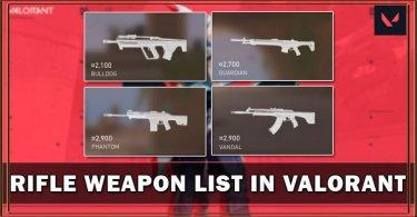 Senjata Terbaik di Valorant dan Harganya