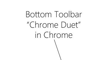 toolbar Chrome Android