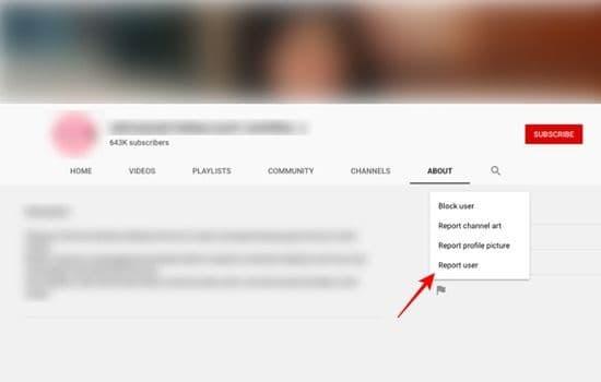 cara melaporkan akun YouTube