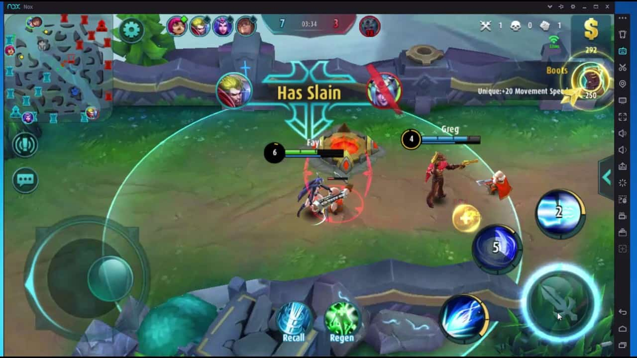 Nox App Player mobile legends