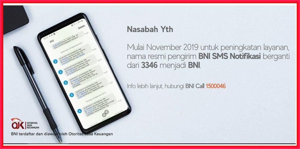 sms notifikasi bni