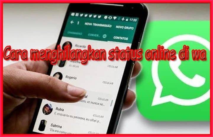 cara menghilangkan status online di wa