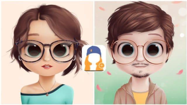 Aplikasi pembuat gambar cartoon avatar dollify