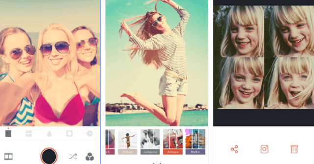aplikais kamera selfie iphone android